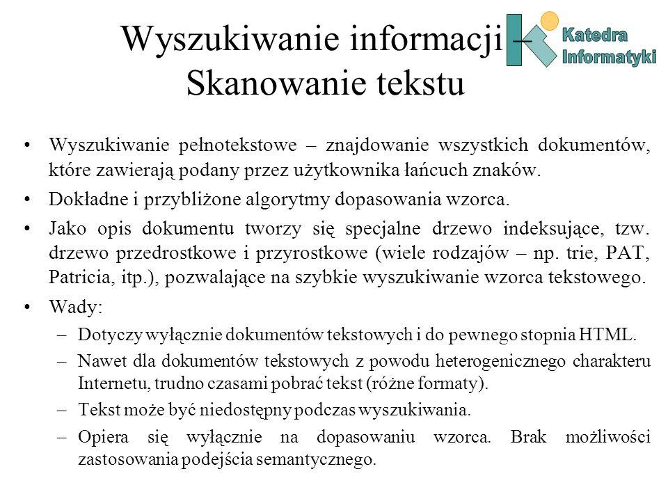 Wyszukiwanie informacji – Skanowanie tekstu