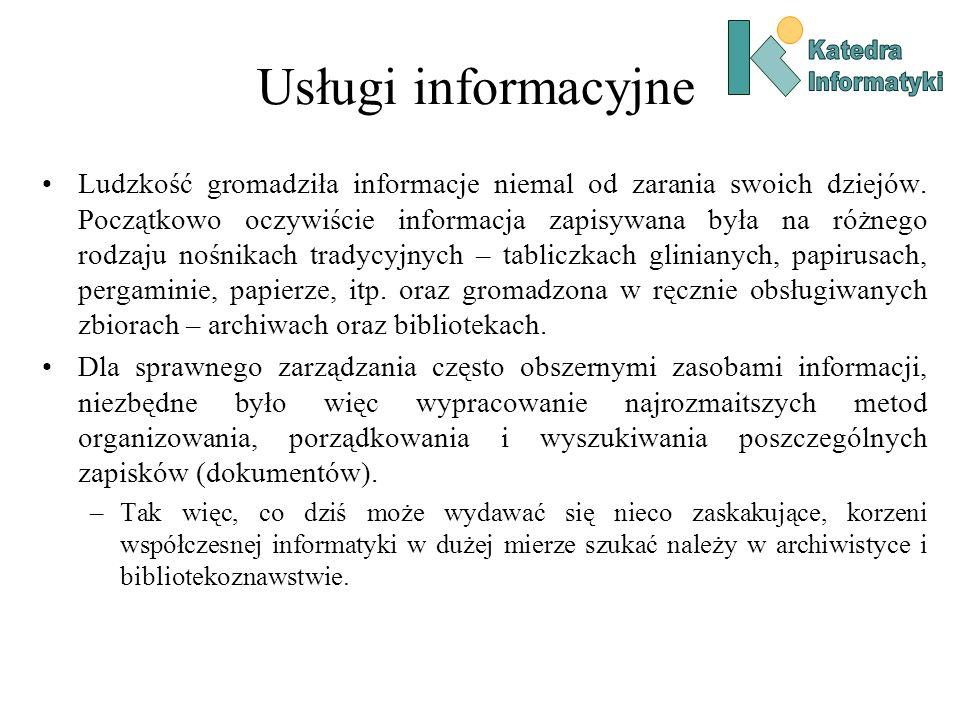 KatedraInformatyki. Usługi informacyjne.
