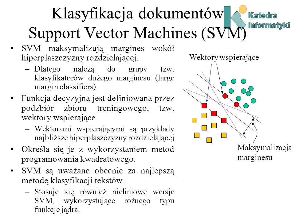 Klasyfikacja dokumentów Support Vector Machines (SVM)