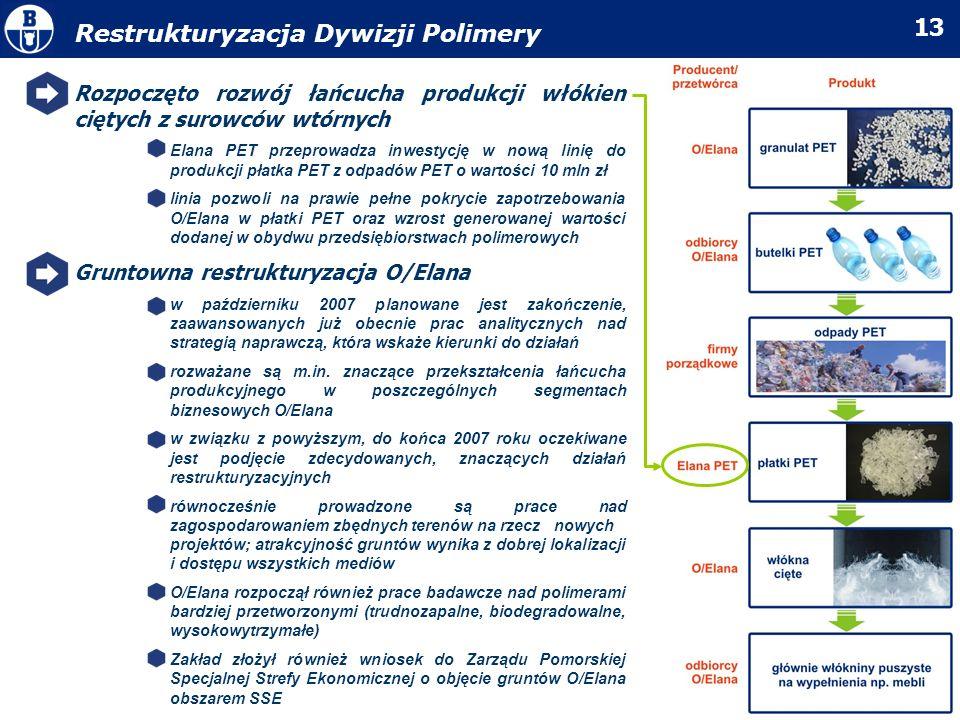 Restrukturyzacja Dywizji Polimery