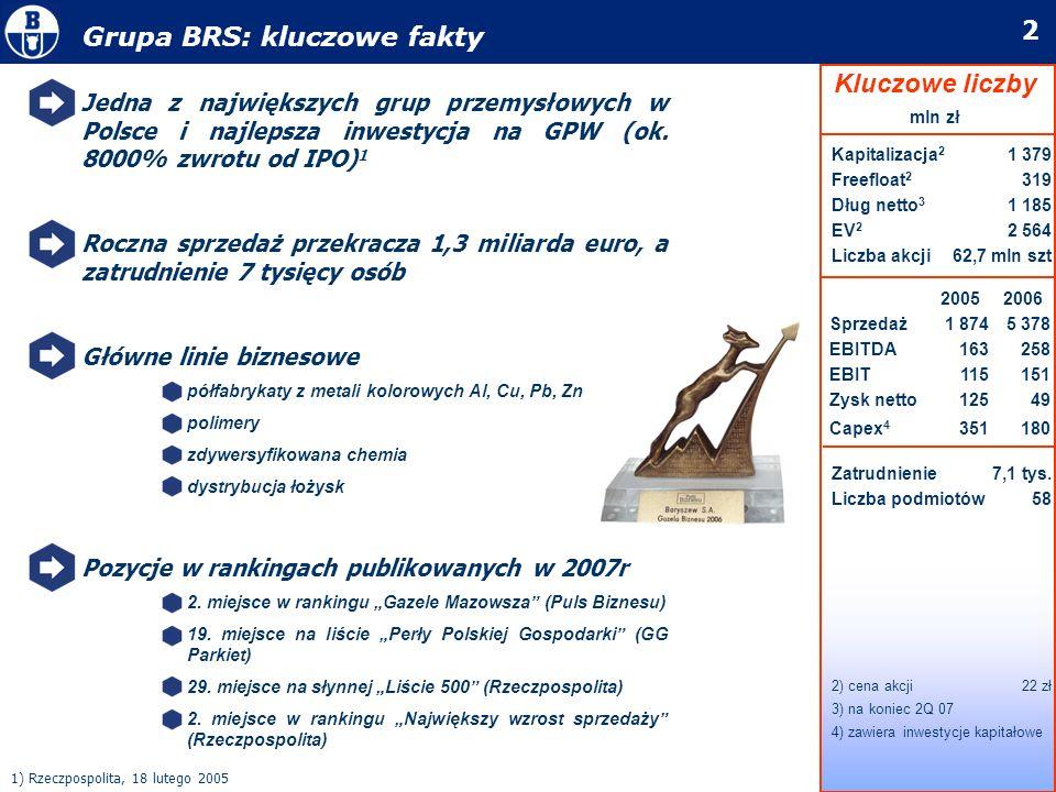 Grupa BRS: kluczowe fakty
