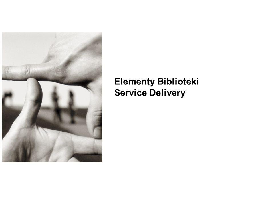 Elementy Biblioteki Service Delivery