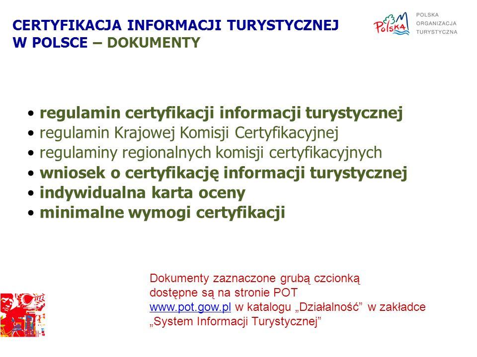 regulamin certyfikacji informacji turystycznej