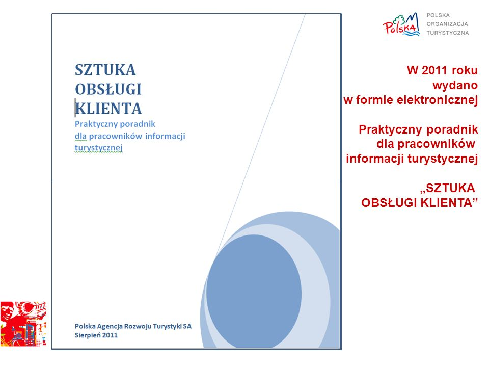 W 2011 roku wydano. w formie elektronicznej. Praktyczny poradnik. dla pracowników. informacji turystycznej.