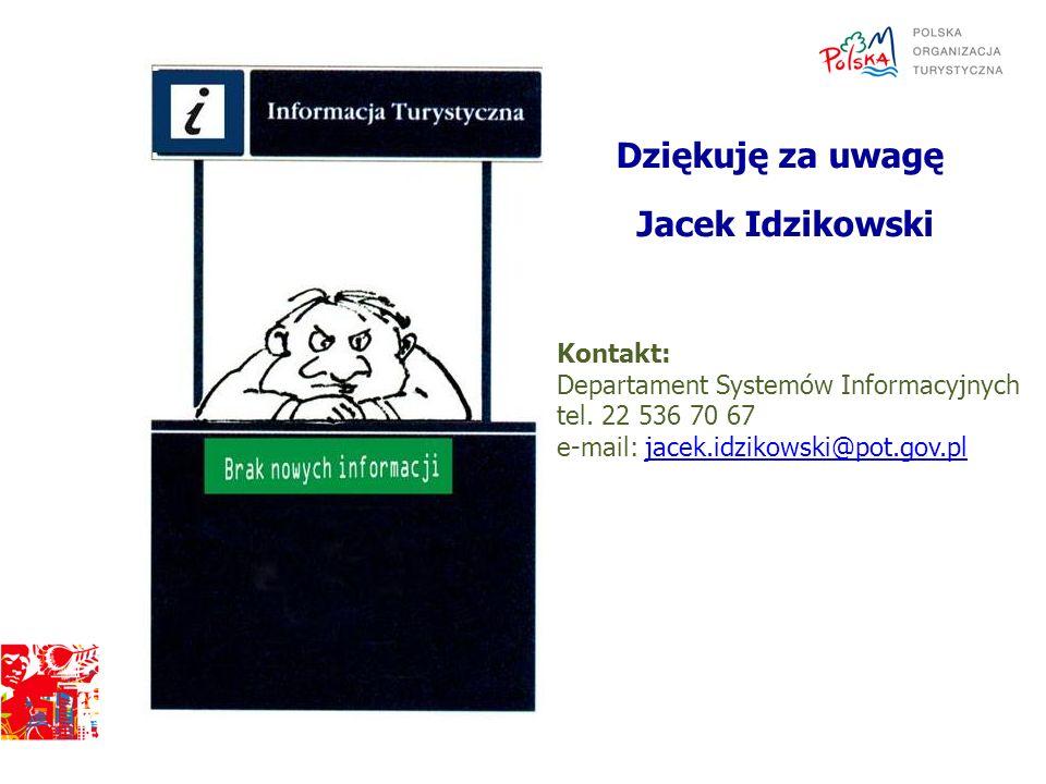 Dziękuję za uwagę Jacek Idzikowski Kontakt:
