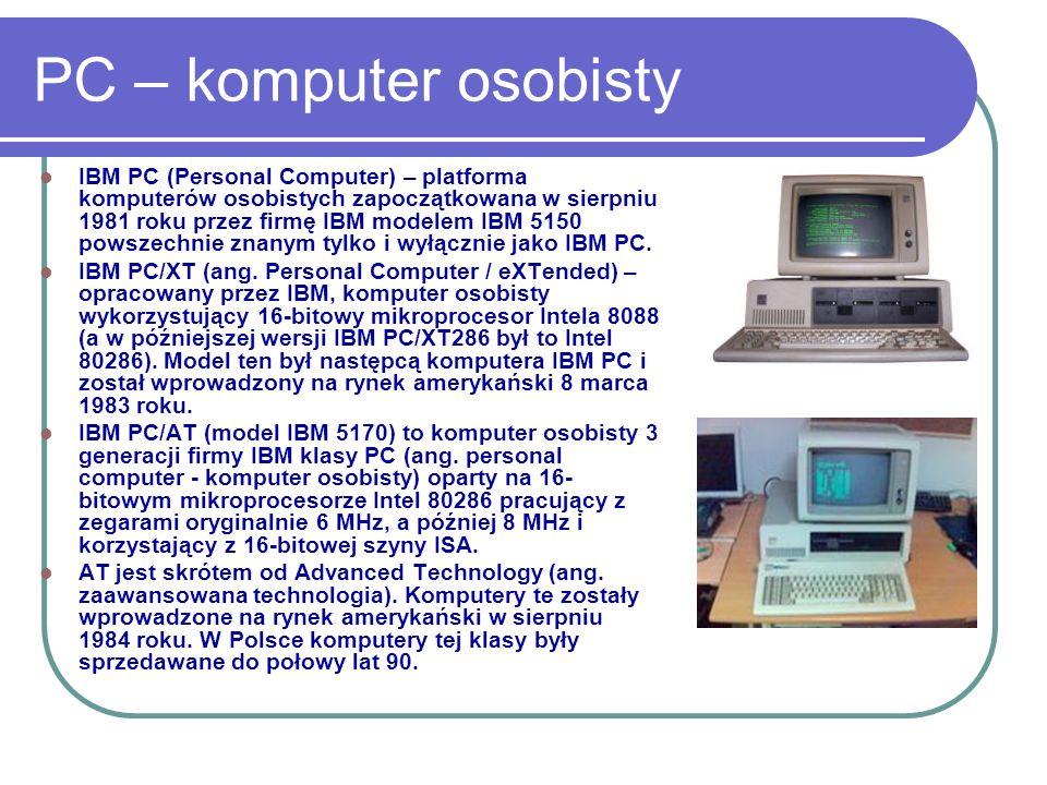 PC – komputer osobisty