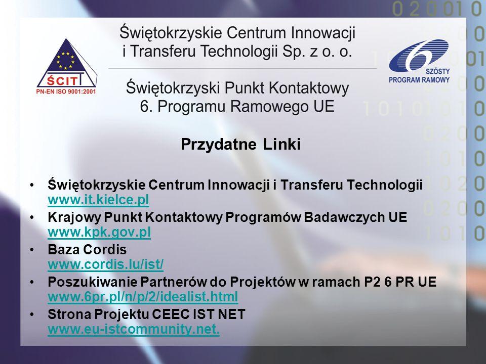 Przydatne LinkiŚwiętokrzyskie Centrum Innowacji i Transferu Technologii www.it.kielce.pl.