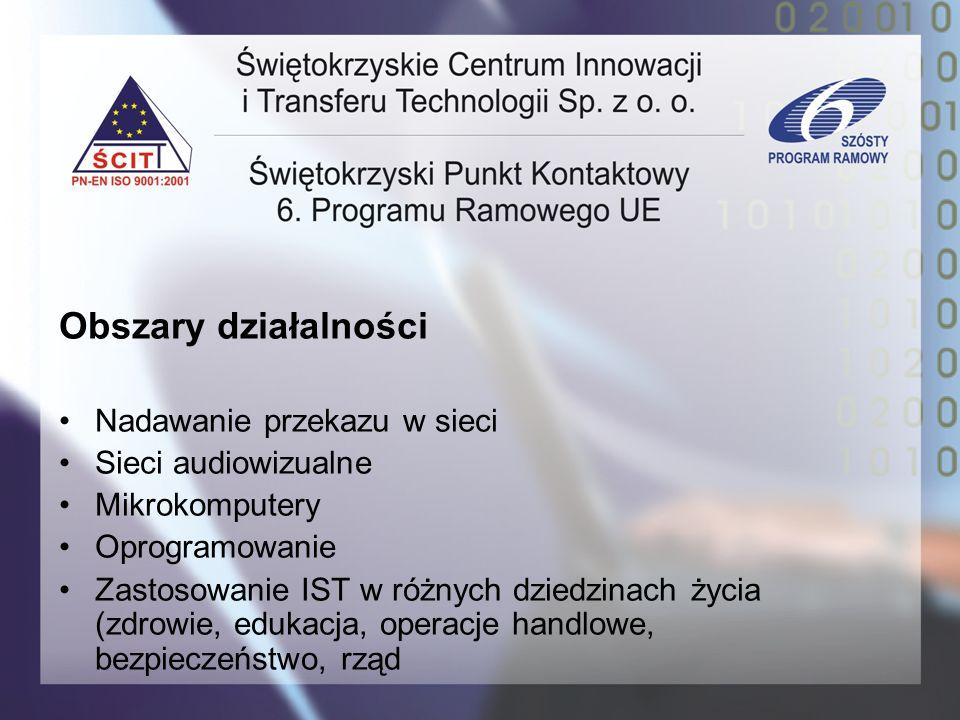 Obszary działalności Nadawanie przekazu w sieci Sieci audiowizualne