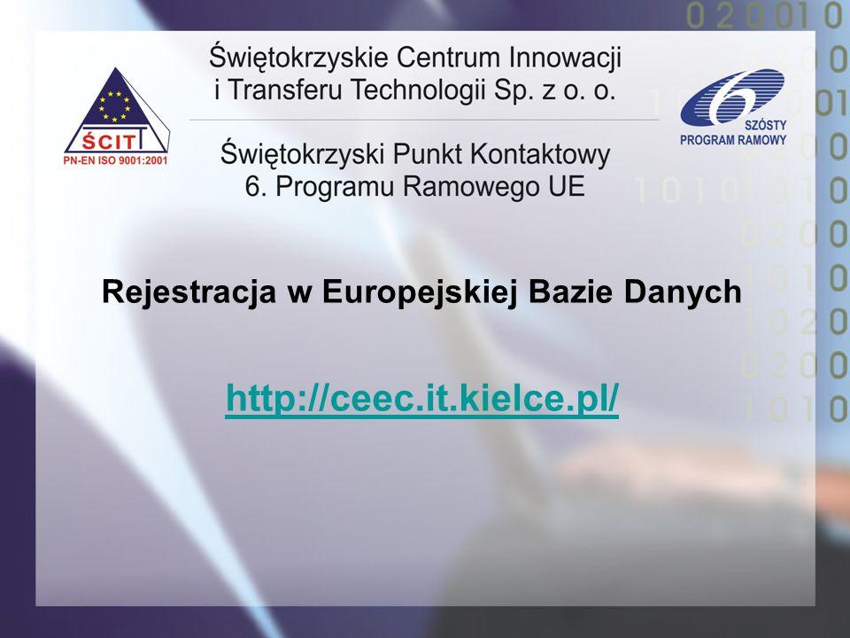 Rejestracja w Europejskiej Bazie Danych