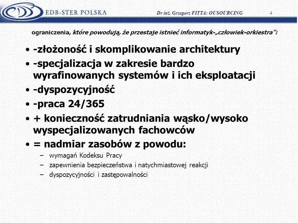 -złożoność i skomplikowanie architektury