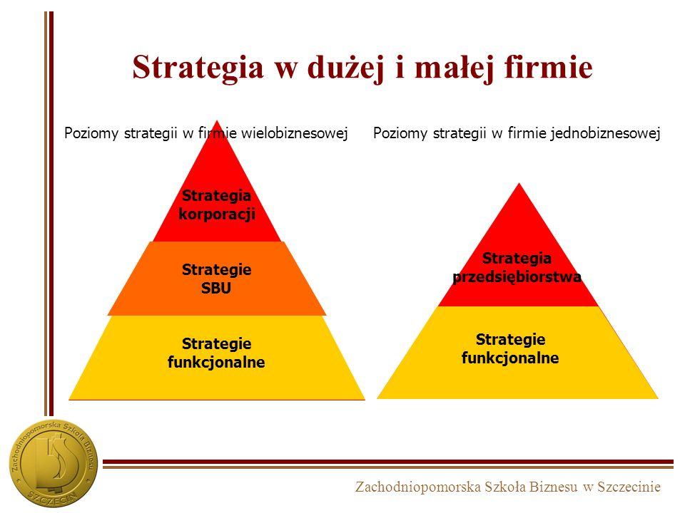 Strategia w dużej i małej firmie