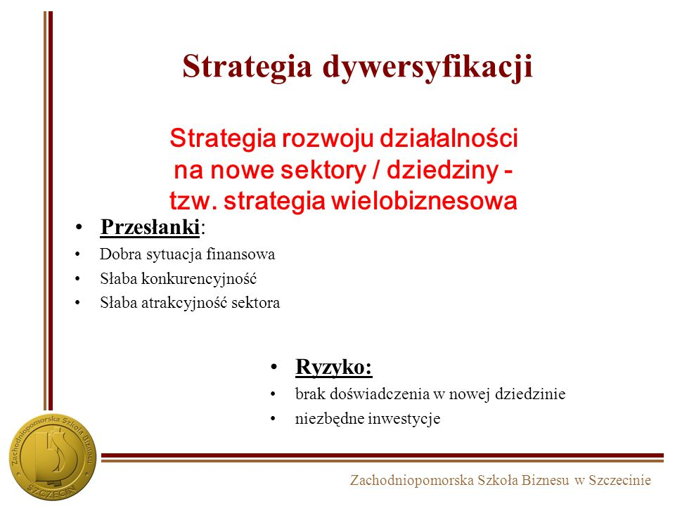 Strategia dywersyfikacji