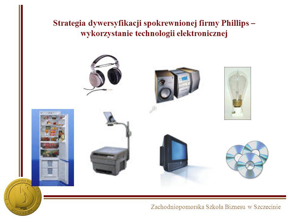 Strategia dywersyfikacji spokrewnionej firmy Phillips – wykorzystanie technologii elektronicznej
