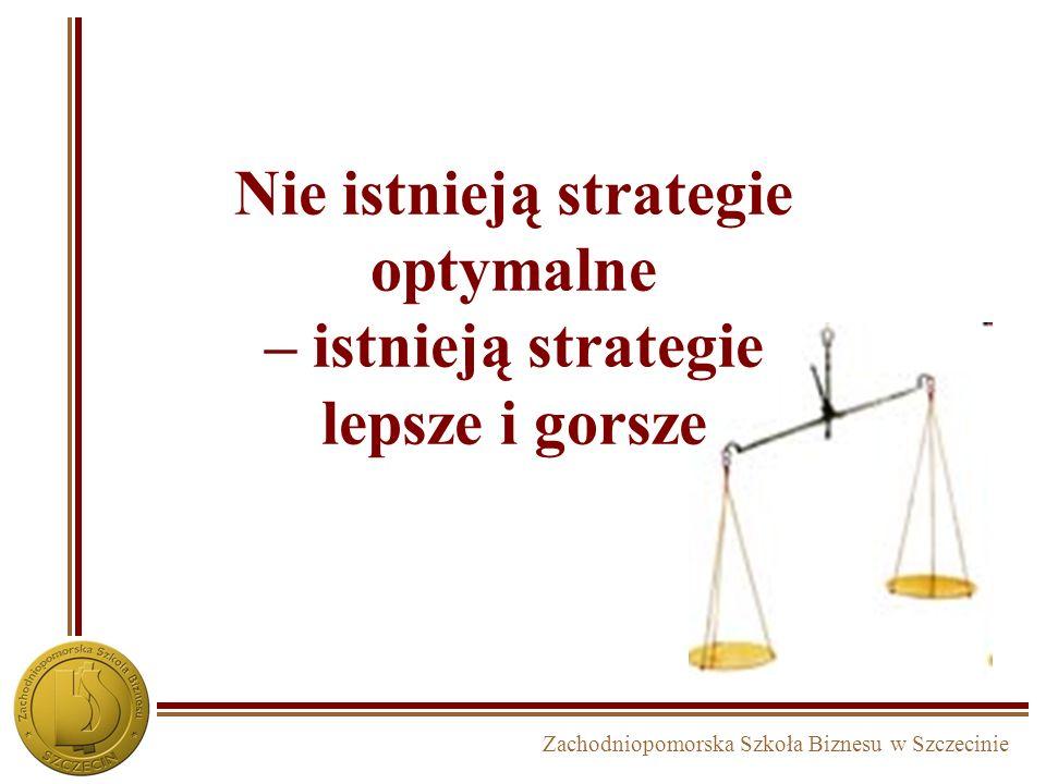 Nie istnieją strategie optymalne – istnieją strategie lepsze i gorsze