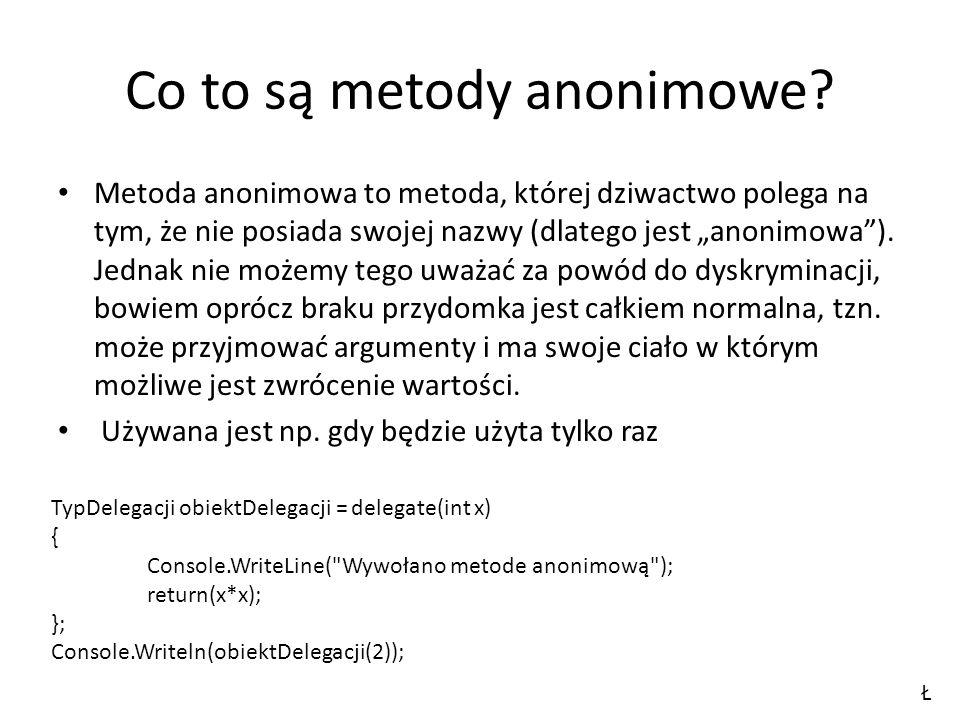 Co to są metody anonimowe