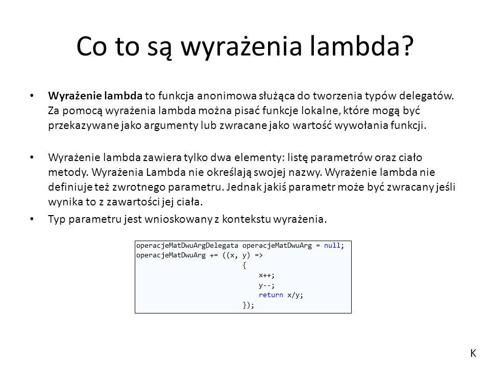 Co to są wyrażenia lambda