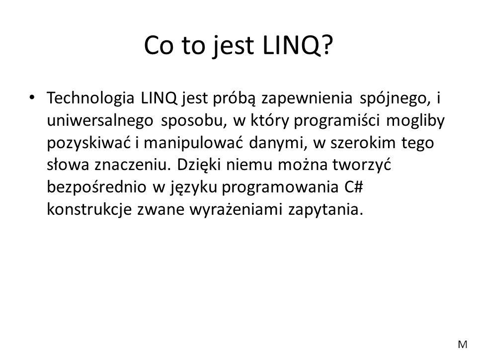 Co to jest LINQ