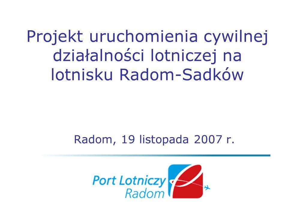 Projekt uruchomienia cywilnej działalności lotniczej na lotnisku Radom-Sadków