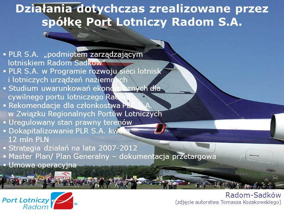 Działania dotychczas zrealizowane przez spółkę Port Lotniczy Radom S.A.