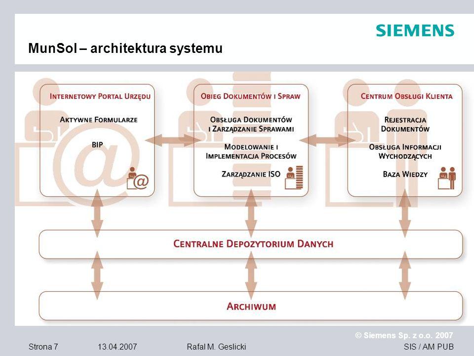 MunSol – architektura systemu