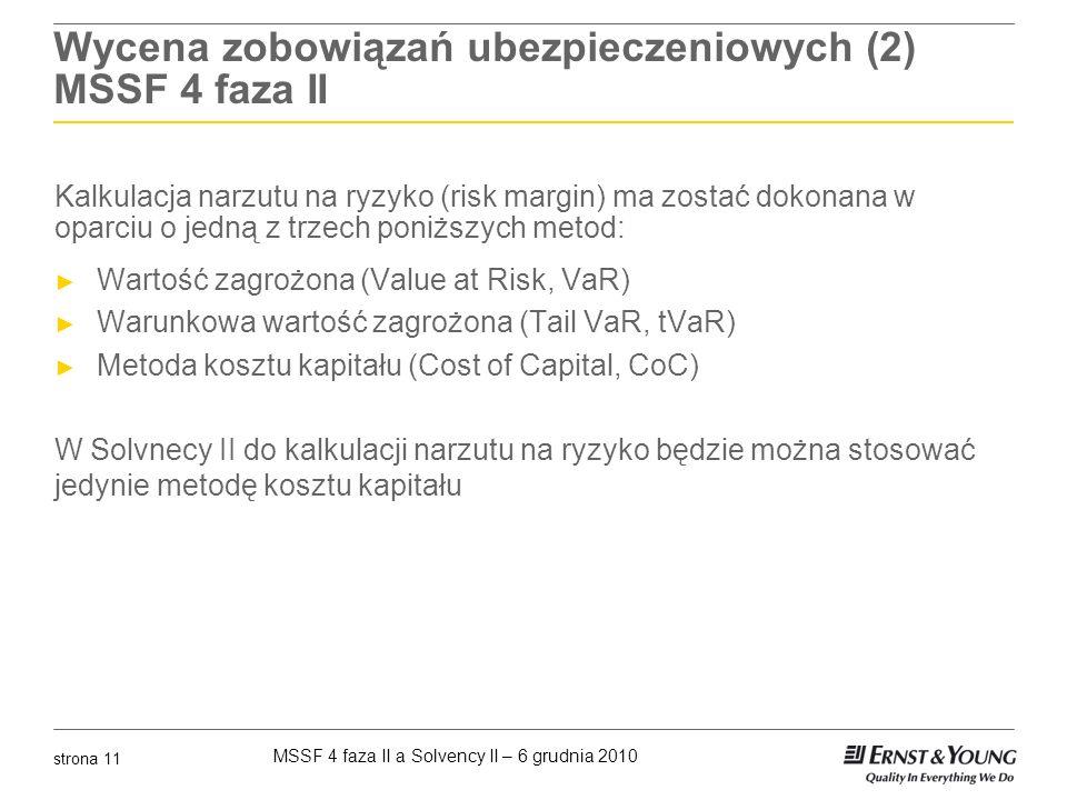 Wycena zobowiązań ubezpieczeniowych (2) MSSF 4 faza II