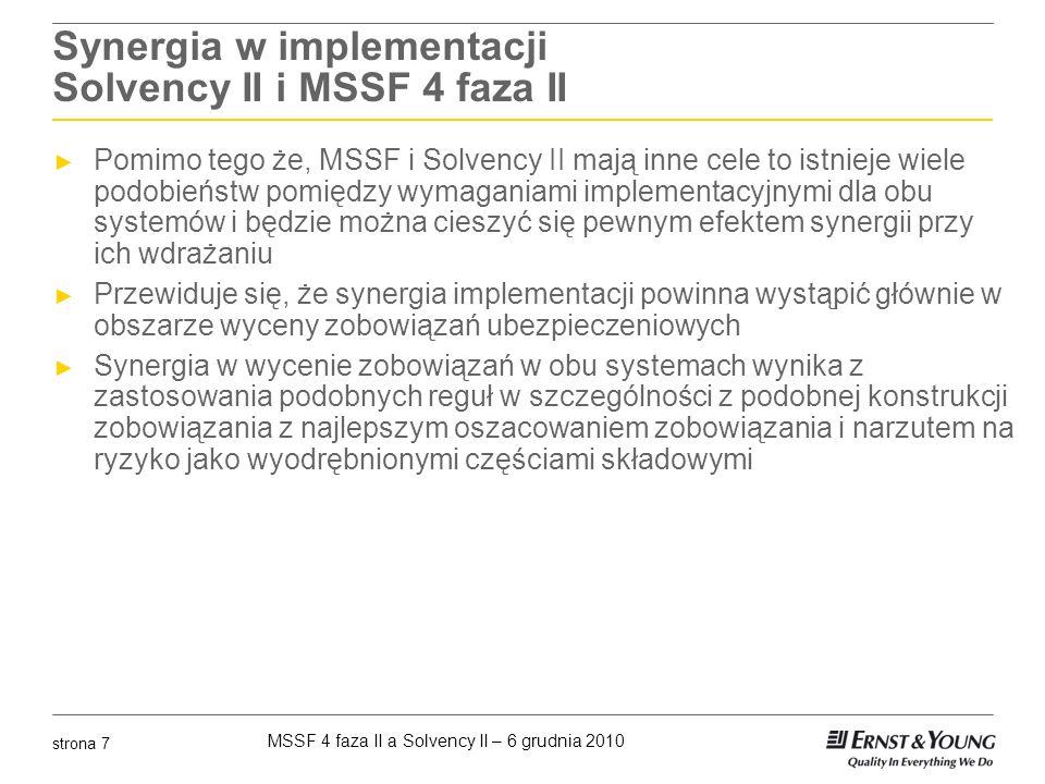 Synergia w implementacji Solvency II i MSSF 4 faza II
