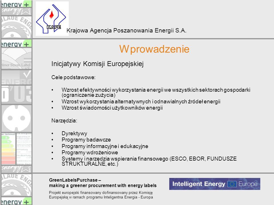 Wprowadzenie Inicjatywy Komisji Europejskiej Cele podstawowe: