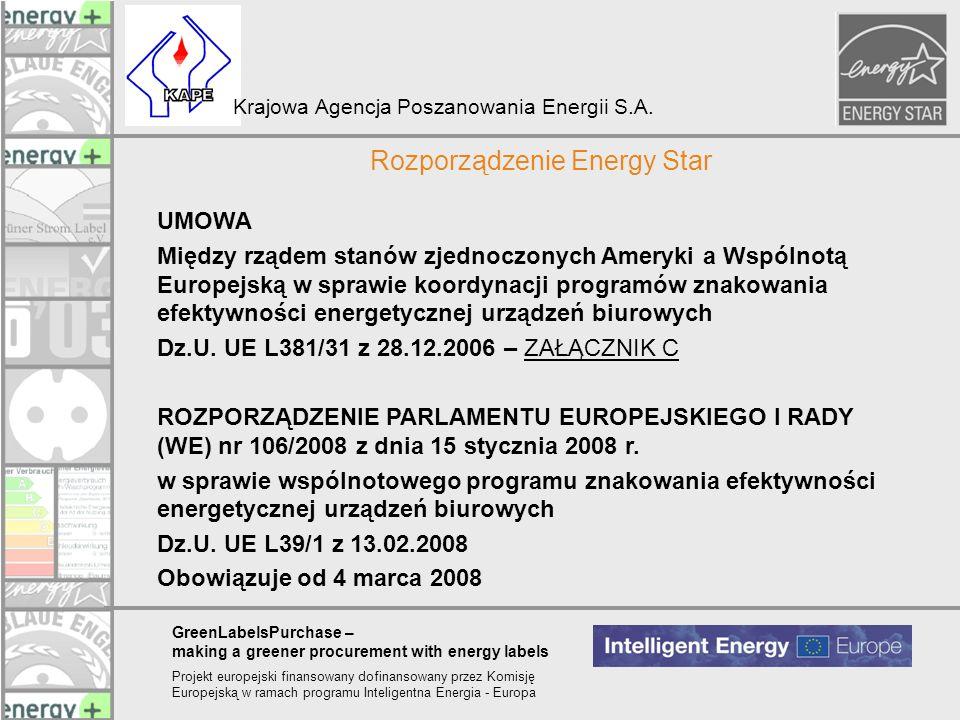 Rozporządzenie Energy Star