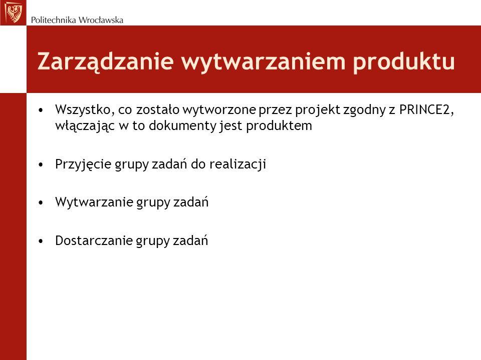 Zarządzanie wytwarzaniem produktu