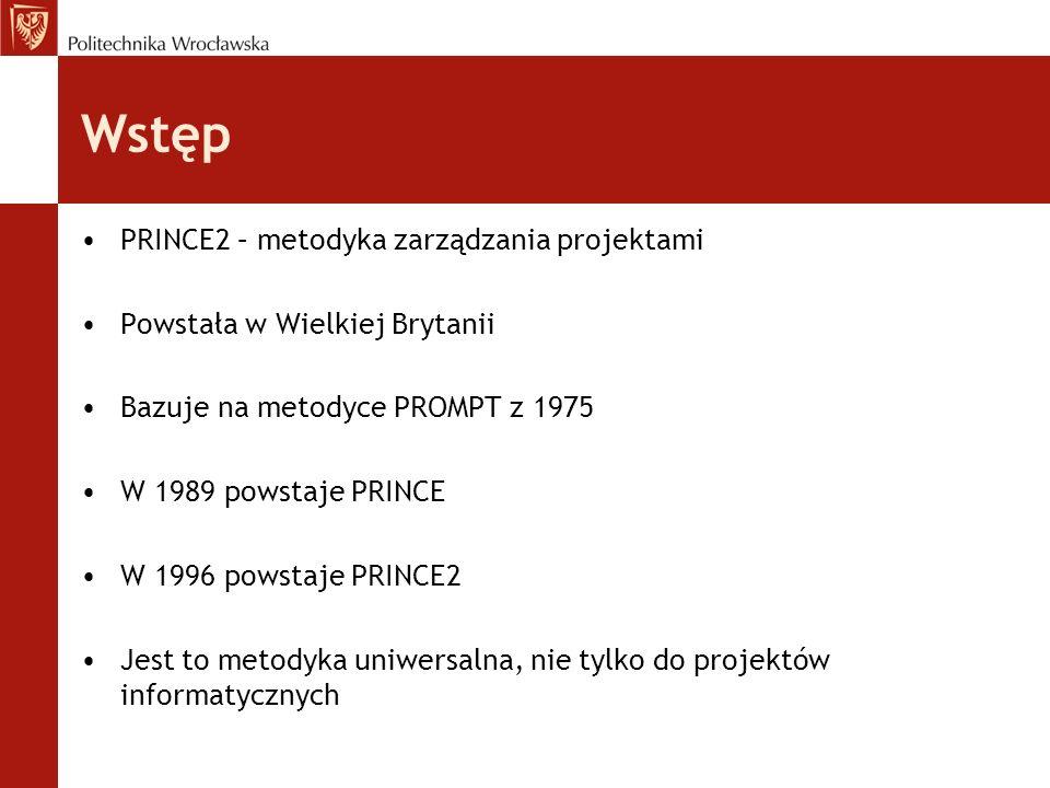 Wstęp PRINCE2 – metodyka zarządzania projektami