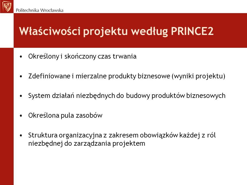 Właściwości projektu według PRINCE2
