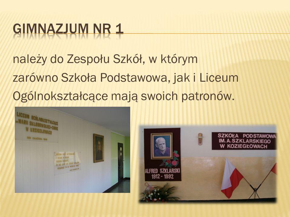 Gimnazjum nr 1 należy do Zespołu Szkół, w którym