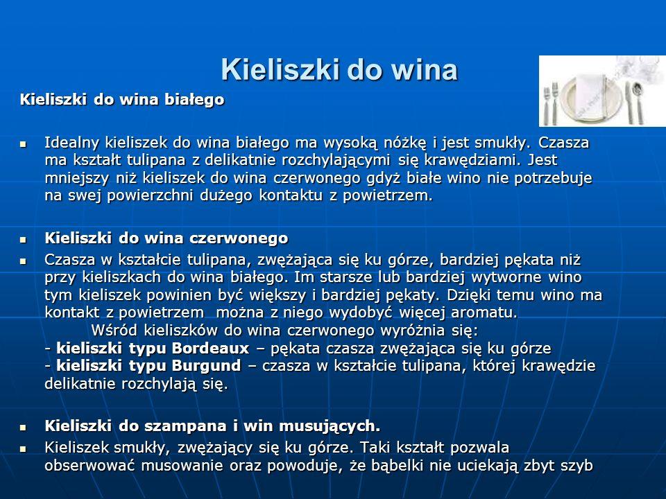 Kieliszki do wina Kieliszki do wina białego