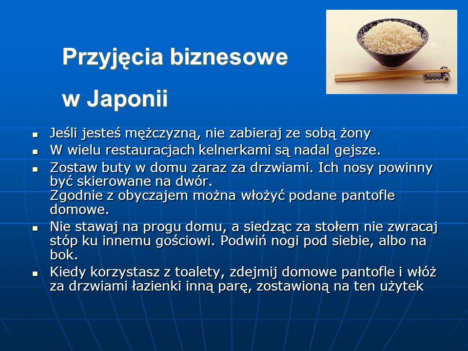 Przyjęcia biznesowe w Japonii