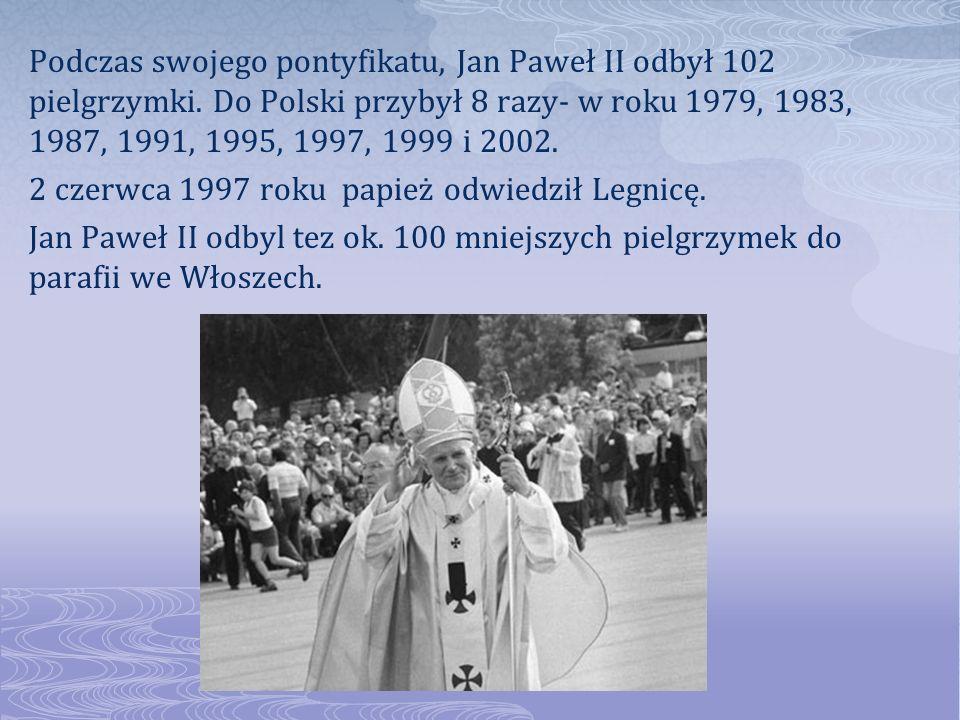 Podczas swojego pontyfikatu, Jan Paweł II odbył 102 pielgrzymki