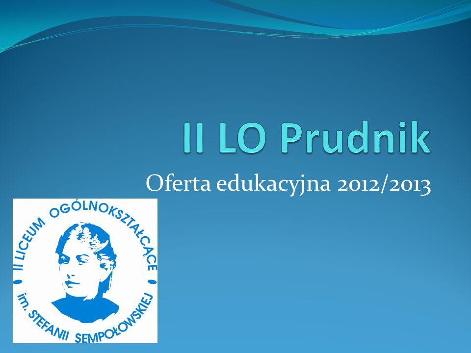 II LO Prudnik Oferta edukacyjna 2012/2013