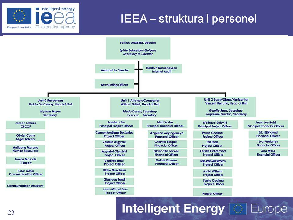 IEEA – struktura i personel