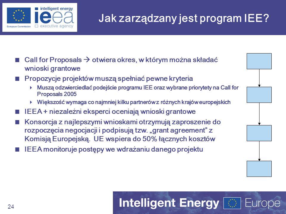 Jak zarządzany jest program IEE