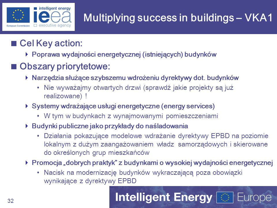 Multiplying success in buildings – VKA1