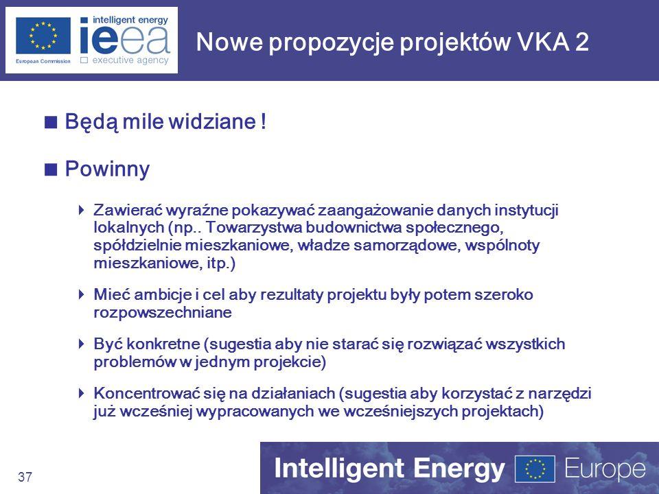 Nowe propozycje projektów VKA 2