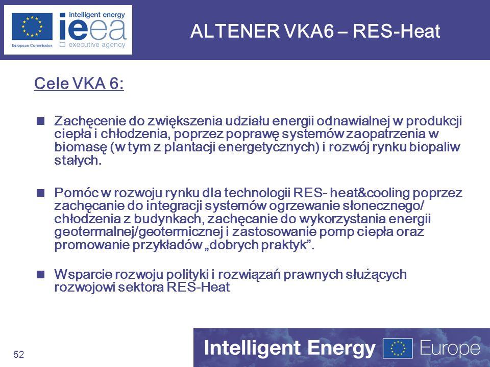 ALTENER VKA6 – RES-Heat Cele VKA 6: