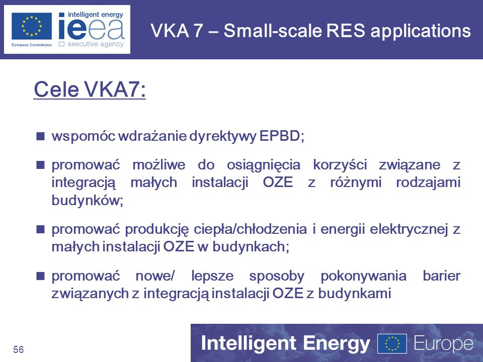 VKA 7 – Small-scale RES applications
