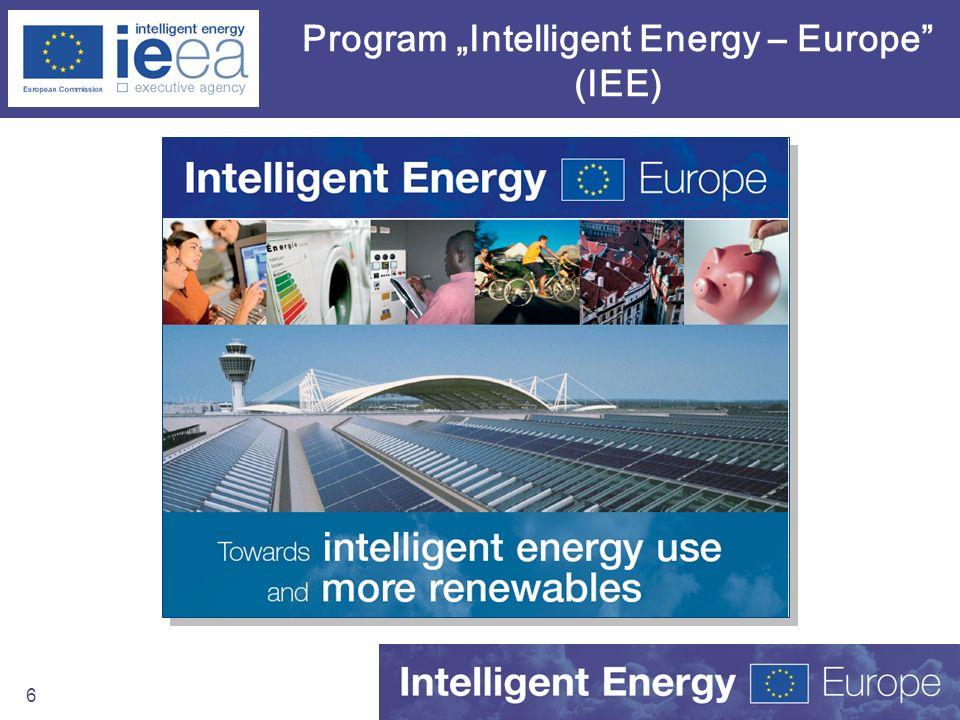 "Program ""Intelligent Energy – Europe (IEE)"