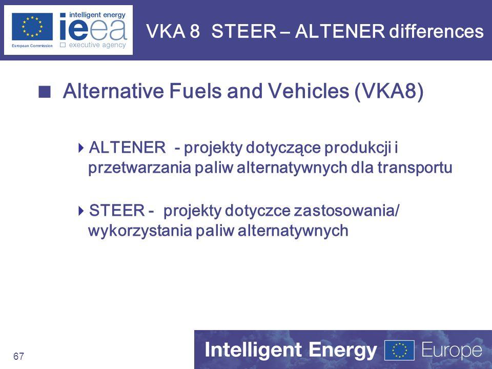 VKA 8 STEER – ALTENER differences