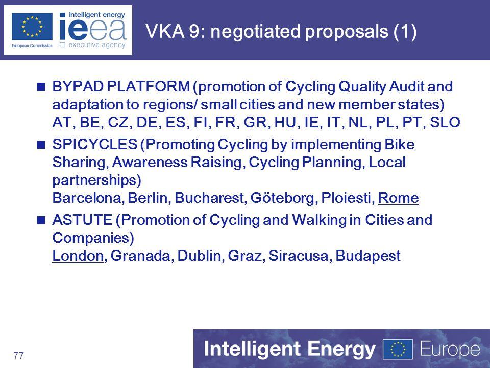 VKA 9: negotiated proposals (1)