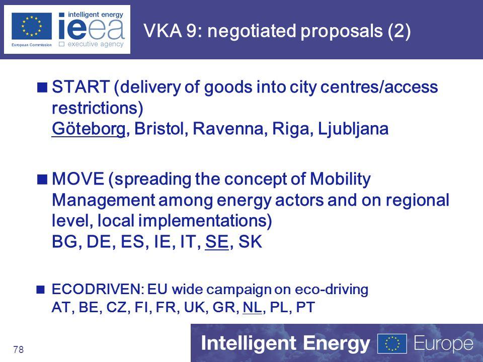 VKA 9: negotiated proposals (2)