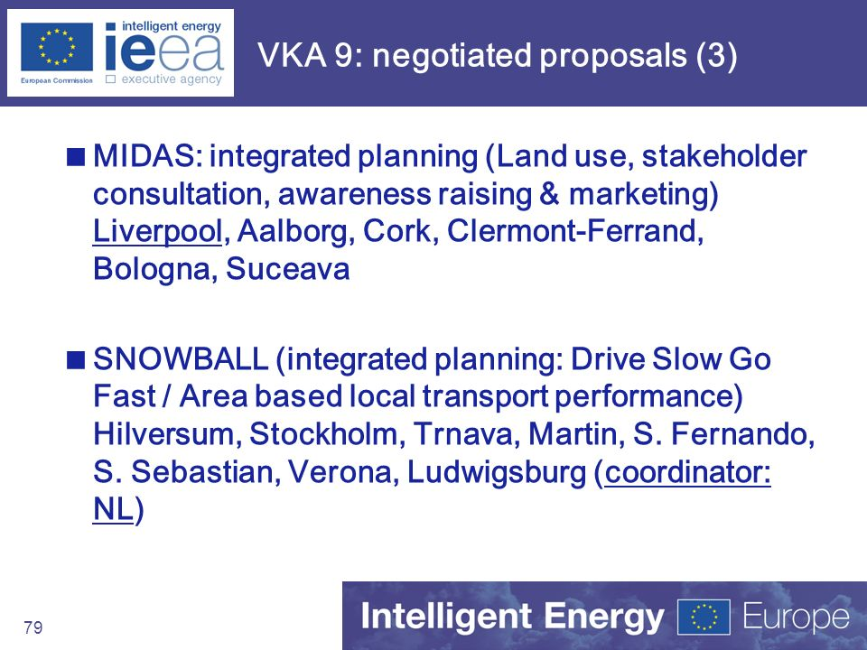 VKA 9: negotiated proposals (3)