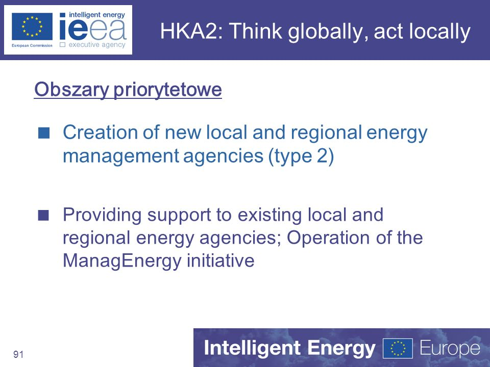 HKA2: Think globally, act locally