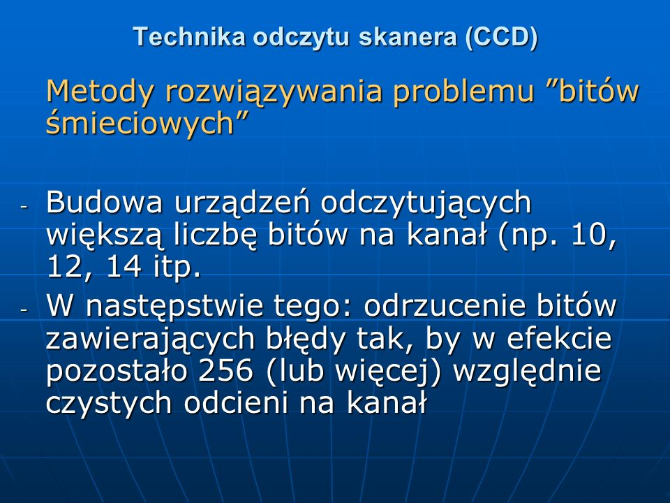 Technika odczytu skanera (CCD)