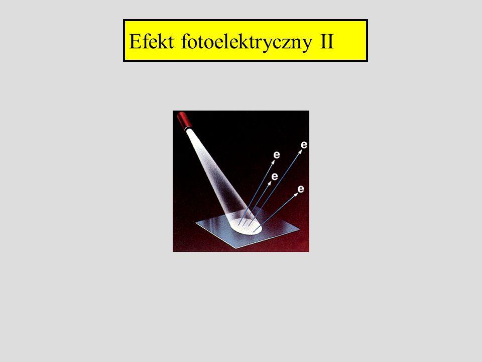 Efekt fotoelektryczny II